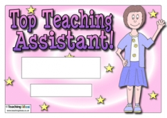 Top Teaching Assistant Certificate (Female)
