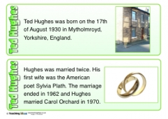 Ted Hughes Fact Cards