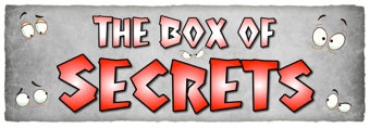 The Box of Secrets Banner - Black and Red