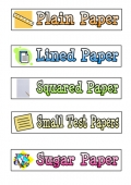 Tray Labels - Paper