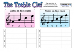 Treble Clef Activity