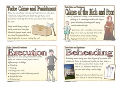 Tudor Crime and Punishment Cards