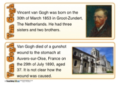Van Gogh Fact Cards