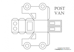 Vehicle Nets - Post Van (Black and White)