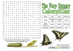 The Very Hungry Caterpillar Wordsearch