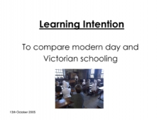 Victorian and Modern Schools