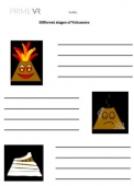 Stages of a Volcano - Worksheet