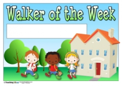 Walker of the Week Certificate