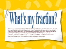 What's my Fraction?