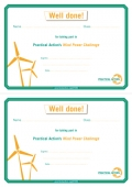 Wind Power Challenge - Certificate