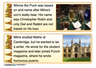 AA Milne Fact Cards