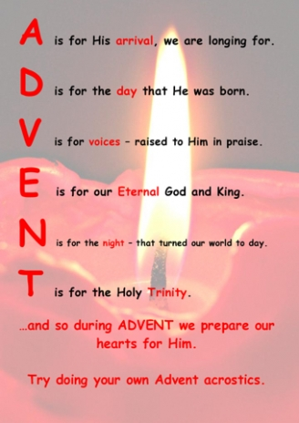 Advent Acrostic