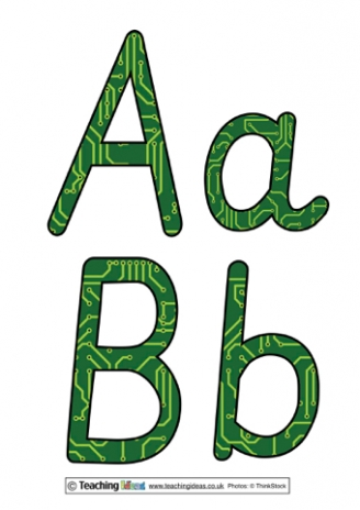 Circuit Board Display Letters