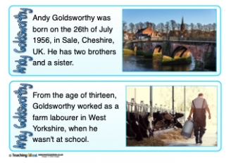 Andy Goldsworthy Fact Cards