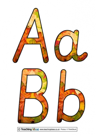Autumn Display Letters