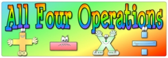 All Four Operations Banners