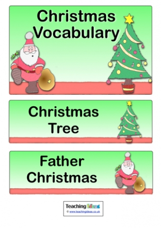 Christmas Vocabulary Labels