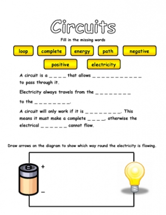 circuits and electricity teaching ideas rh teachingideas co uk electric circuit drawing worksheet electric circuit drawing worksheet