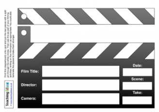 Clapperboard Role Play Resource