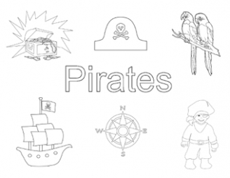 Pirates Colouring Pictures