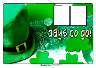 Countdown to St. Patrick's Day Poster