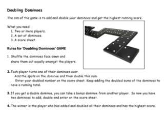 Doubling Dominoes Game