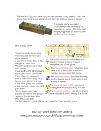 How to play Senet