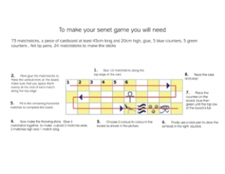 How to make a game of Senet