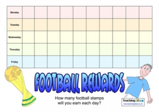 Football Reward Chart