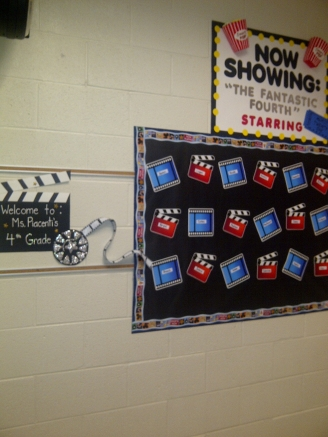 Movie-Themed Welcome Board Display