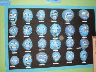 Aztec Masks Display