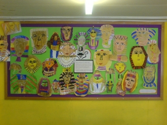 Egyptian Masks Display