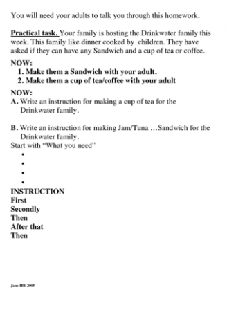 Instructions Homework