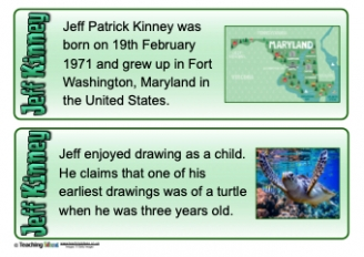 Jeff Kinney Fact Cards