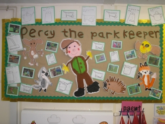 Percy the Park Keeper Display