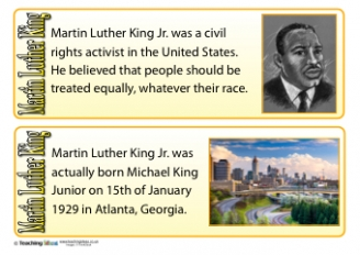 Martin Luther King Fact Cards