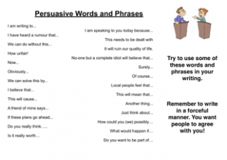 Persuasive Words and Phrases
