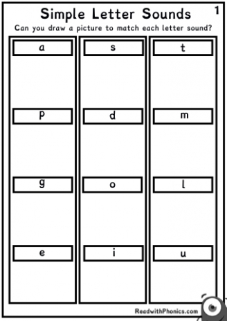 Phonics Matching Sounds Worksheets – Learning Letter Sounds