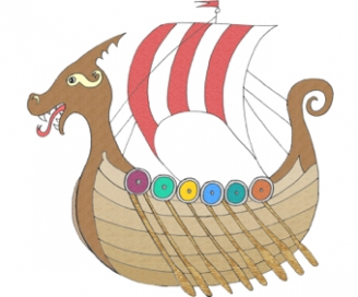Viking Ship Display Picture