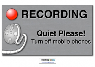 Recording Role Play Sign