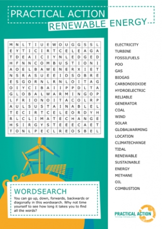 Renewable Energy Wordsearch