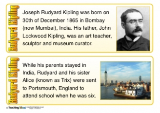 Rudyard Kipling Fact Cards