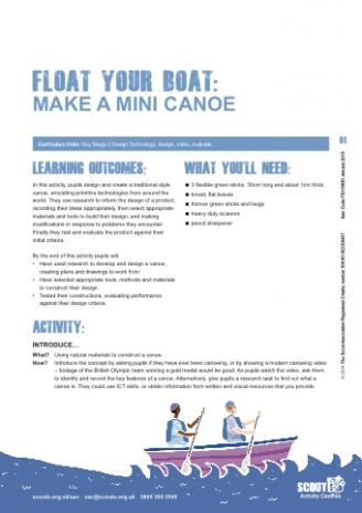 Make a Mini Canoe