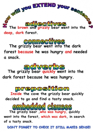 Starting and Extending Sentences