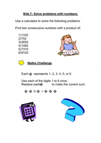Solving Problems - Numbers