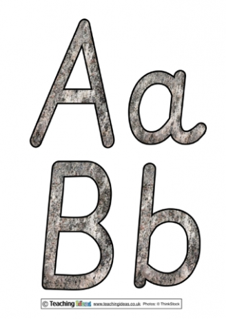 The Stone Age Display Letters
