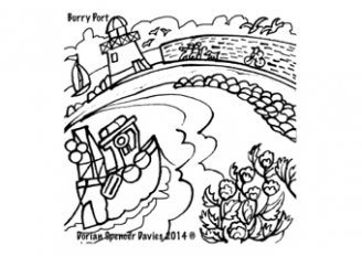 Tenby Art Colouring Pages