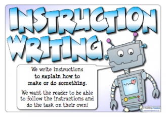 Image result for instruction writing year 1