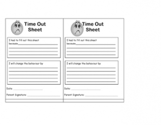 Time Out Sheet