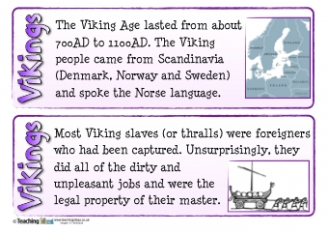 Vikings Fact Cards